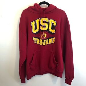 Unisex USC Trojans Red Hoodie Pullover L